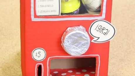 how to make a mini vending machine out of cardboard