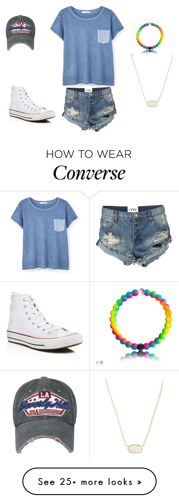 """How to wear converse"" by caroline-rome on Polyvore featuring MANGO, One Teaspoon, Converse and Kendra Scott"