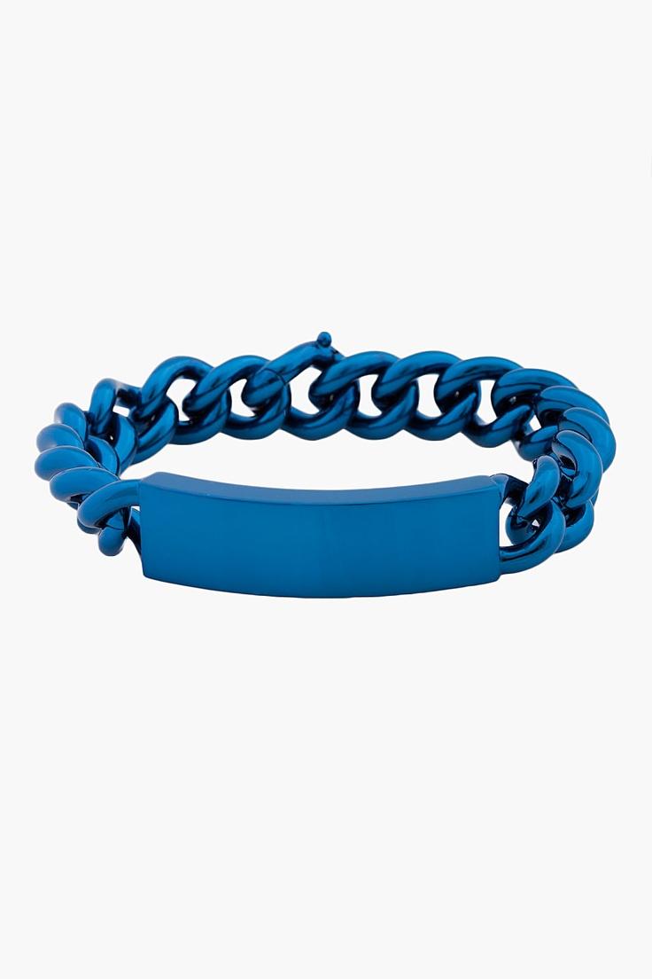MAISON MARTIN MARGIELA Blue Brass Bracelet