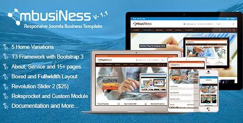 ThemeForest - MbusiNess v1.1 - Responsive Joomla 3.x Business Template