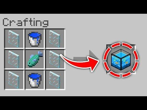 Minecraft: How To Get A Fish Tank (No Mods) (Ps3/Xbox360/PS4