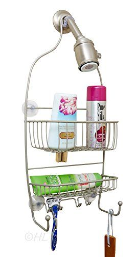 Bathroom Organization: Shower Caddy Stainless Steel with polished chrome finish rust free material ensuring a great appearance. The shower caddy comes with suction cups making this bathroom organizer easy to install. * Details can be found by clicking on the image.
