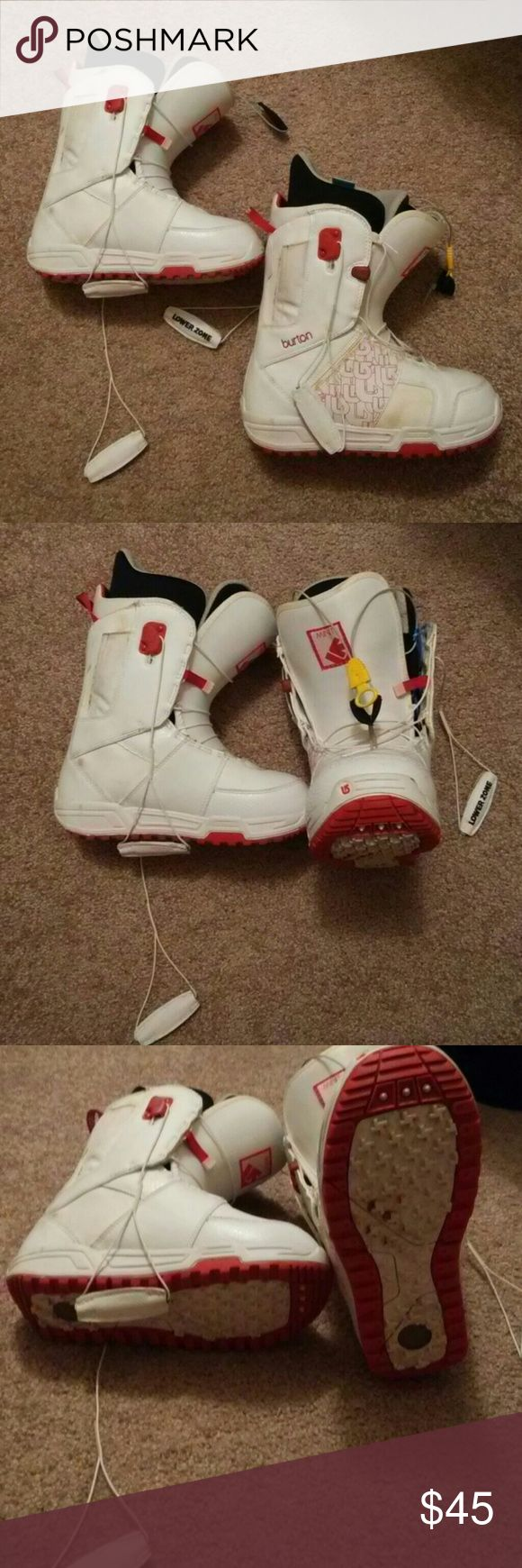 Burton Snowboard Boots size 7 Pink and white Burton Snowboard boots. Practically new. Only worn a few times Burton Other