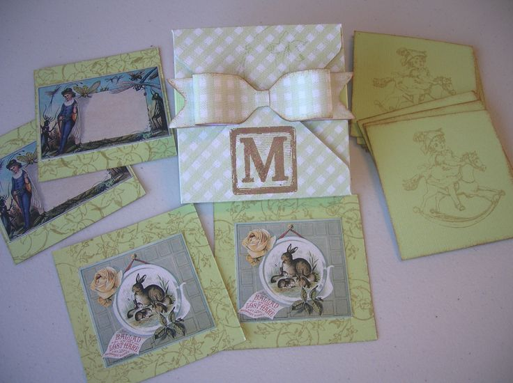 Memory game made with products from the Early Years collection, and the envelope punch board.