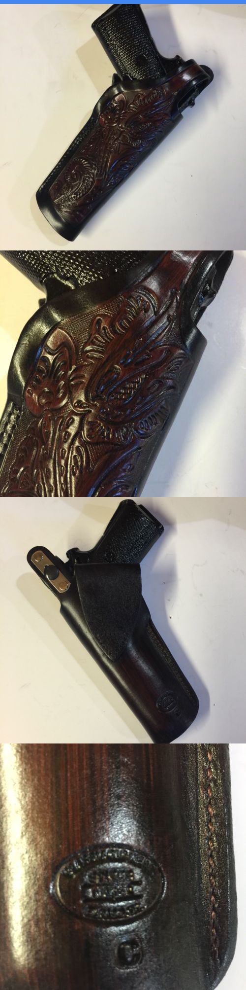 Holsters 177885: Colt 1911 45 Model,Remington,Ria,Springfield, 5 Barrel, Kimber Leather Holster BUY IT NOW ONLY: $39.99