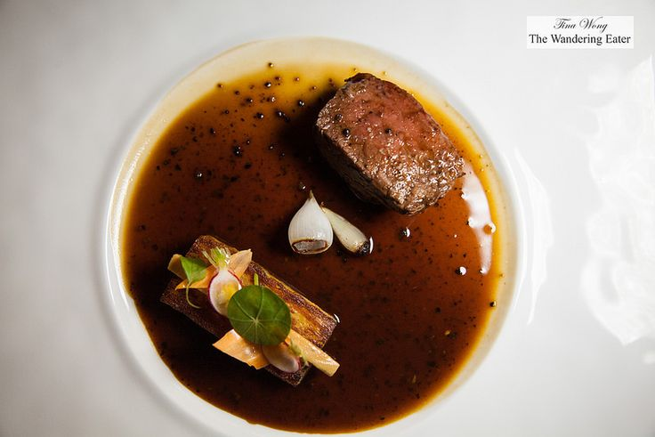"Matured tenderloin Irish beef ""à la ficelle"", foie gras, black truffle sauce - Tina Wong"