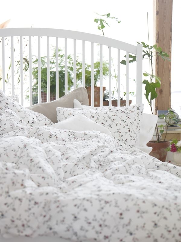 I want this for my bed! Ljusoga bed sheets from Ikea.