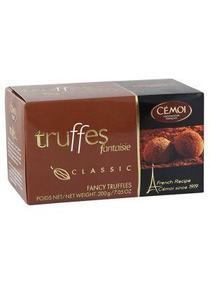 Francuskie trufle czekoladowe, z dodatkiem karmelizowanego cukru, o rewelacyjnym smaku. Rarytas, któremu trudno się oprzeć. Trufle produkowane są ręcznie ze szlachetnych odmian kakao, co przesądza o ich jedwabistej konsystencji i wytrawnym smaku, pełnym wyrazistości i charakteru. Elegancka forma opakowania sprawia, że znakomicie nadają się na wyrafinowany upominek dla smakosza.
