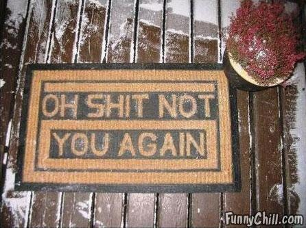 Haha This is a funny welcome mat