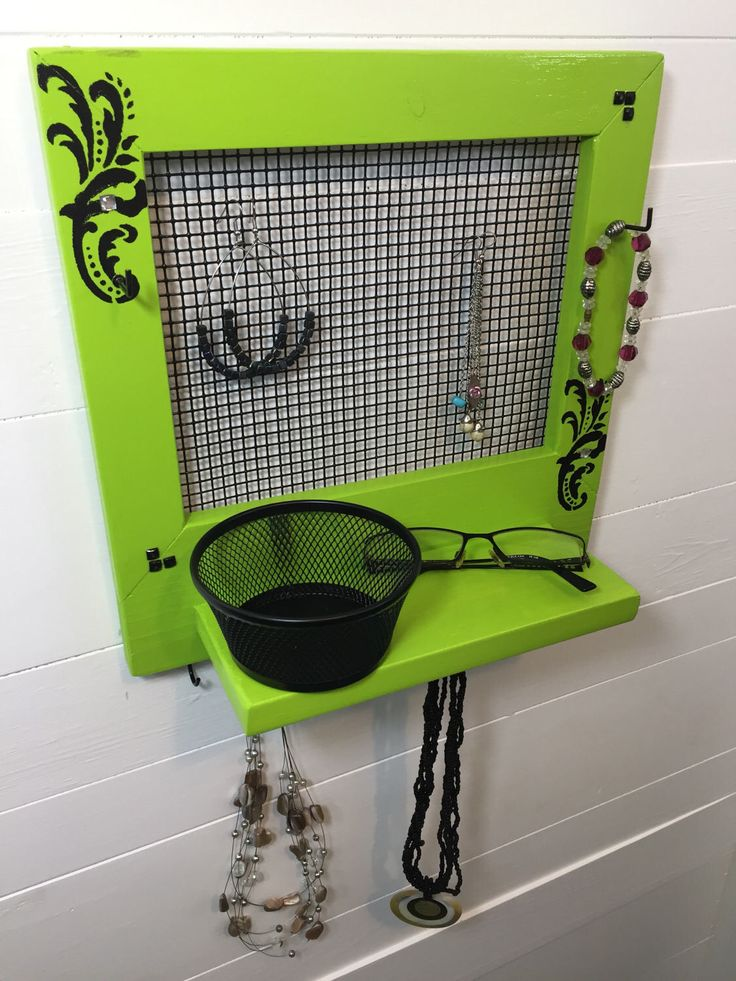 A personal favorite from my Etsy shop https://www.etsy.com/ca/listing/521426249/green-jewelry-holder-jewelry-frame