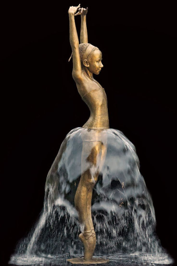 """Bronze fountain"" by Malgorzata Chodakowska                                                                                                                                                                                 More"