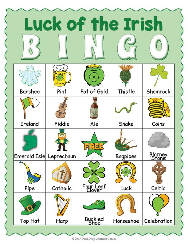 photo relating to St Patrick's Day Bingo Printable named Saint Patricks Working day BINGO Informative Game titles for Children St