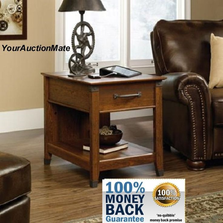 Lovely End Table SmartCenter Charging Station With PowerStrip U0026 Venting Hidden  Storage #Sauder #Contemporary