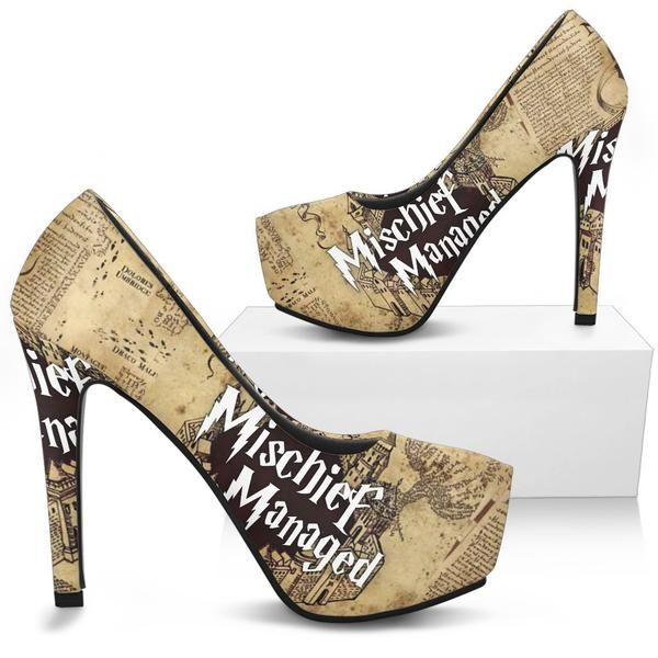 Custom Magic Map High Heels