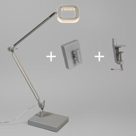 Nice Tischleuchte Oficina Aluminium Sehr energieeffiziente Tischlampe die au erdem auch noch sehr praktisch
