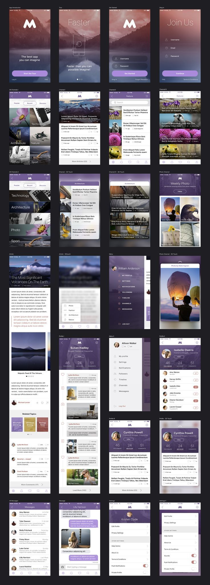 Megap - iOS Template by MK Templates on @creativemarket