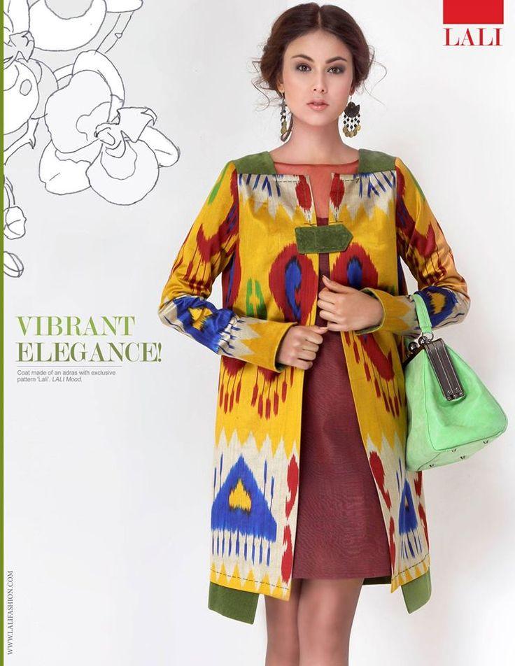 "Кардиган из эксклюзивного адраса ""Lali"", с отделкой из зеленного бархата. В наличии в шоуруме LALI!  www.lalifashion.com instagram: @lalifashion #moda #couture #lali # mood #ikat #uzbekistan #fashion #style #tashkent #fashion #designer"