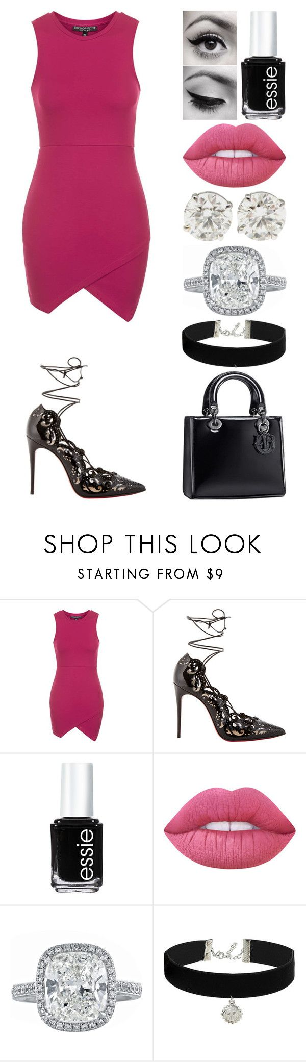 """""""sledgehammer."""" by emmmalaw ❤ liked on Polyvore featuring Topshop, Christian Louboutin, Essie and Lime Crime"""