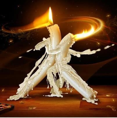 Dancing candles