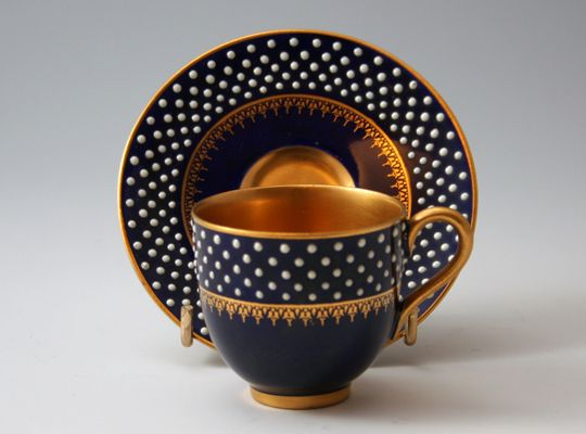 Worcester cabinet cup & saucer