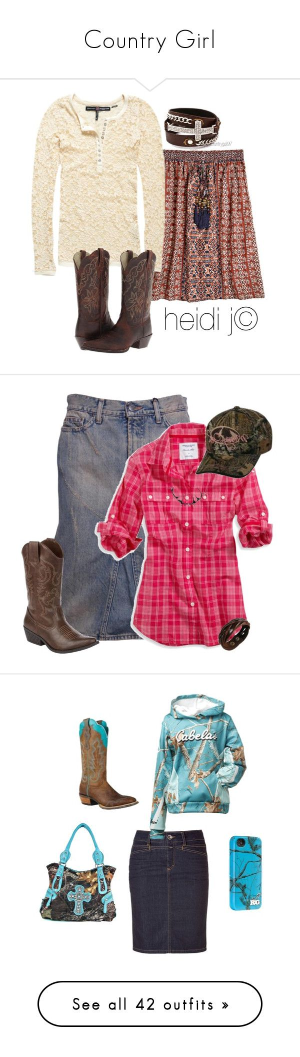 """Country Girl"" by dreamin-girl ❤ liked on Polyvore featuring Calypso St. Barth, Superdry, Ariat, country, Boots, CountryGal, countrygal97, heidij, Roberto Cavalli and American Eagle Outfitters"