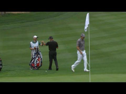 Jonathan Byrd chips in for birdie on No. 5 at Barracuda [ ArtOfGolf.com ] #PGA #art #golf