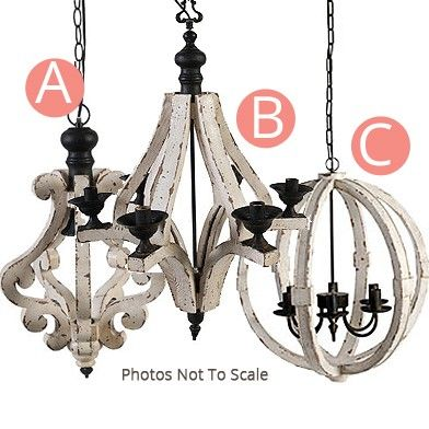 Distressed Wood Chandelier | Chandeliers | White Chandelier | Décor Steals