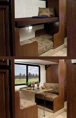 Bunk Bed Over Rv Dinette Rv And Camping Pinterest