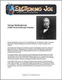 George Westinghouse | Free Printable Biography for Kids (Scheduled via TrafficWonker.com)