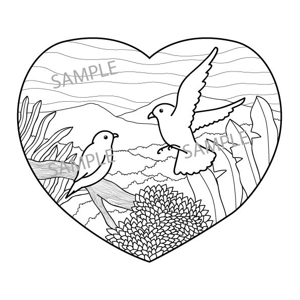 Love Bird Coloring Page Bird Coloring Pages Coloring Pages Love Birds