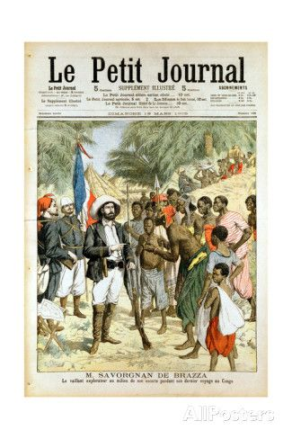 Pierre-Paul-Francois-Camille Savorgnan De Brazza, French Explorer and Founder of Brazzaville, 1905 Giclee Print - AllPosters.co.uk
