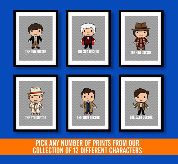 Dr Who inspired wall art kids wall art Dr Who Doctor by MiniHeroes