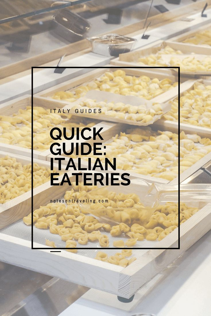 Ever wondered what the difference between osteria and trattoria is? Here's a comprehensive list of definitions for Italian eateries.