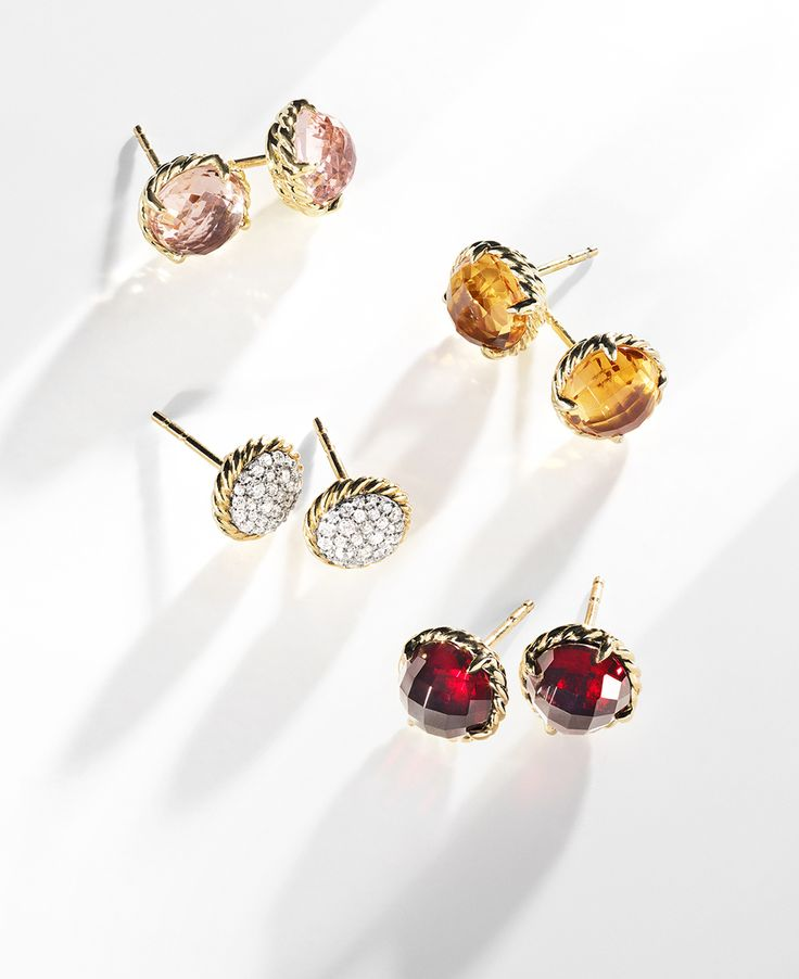 From David Yurman Claine Stud Earrings