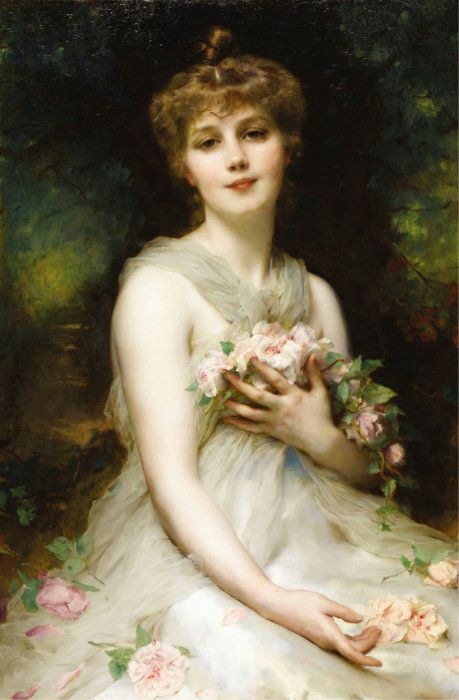"""""""Jeune Femme"""" by Adolphe Etienne Piot"""