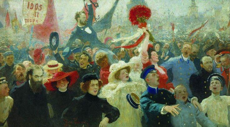 Ilya Repin  Manifestation, October