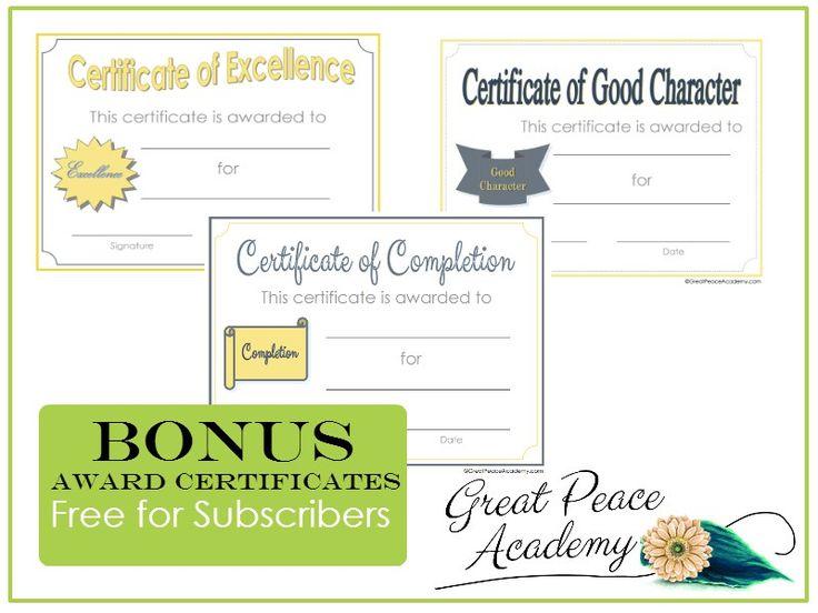 award certificates free