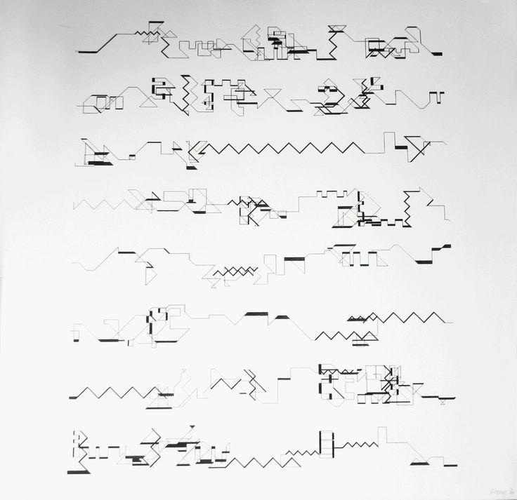 Manfred Mohr, 'P-021-F', 1969