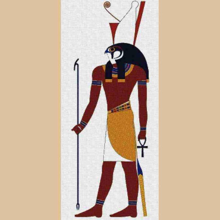 Hola amigas un patron del Dios Egipicio Horus.