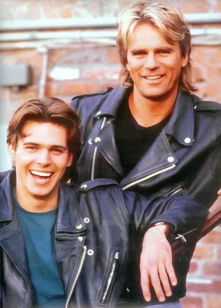 "Dalton James as Sean Angus ""SAM"" Malloy, MacGyver's son,  with Richard Dean Anderson as MacGyver!"