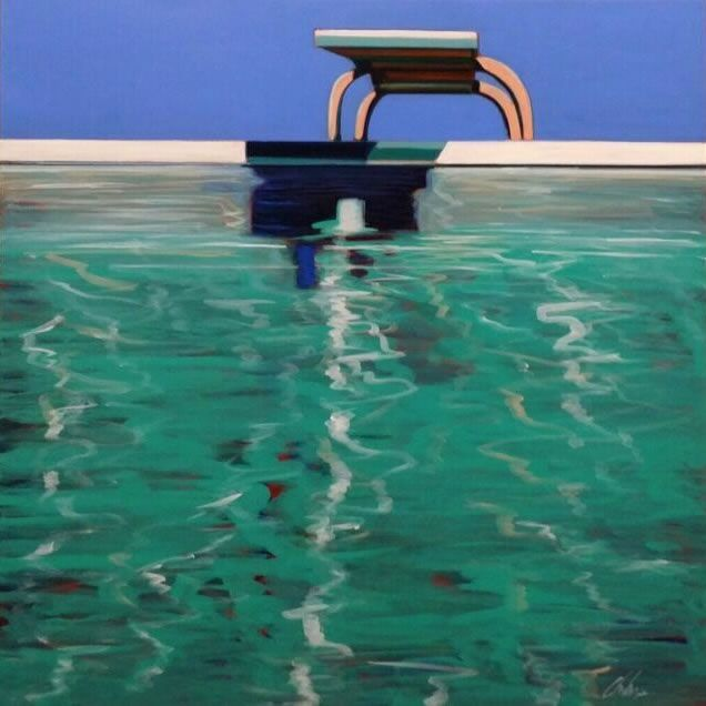248 best images about swimming pool art paintings of - The last picture show swimming pool scene ...