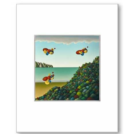 Busy Bees by Hamish Allan Matted Print