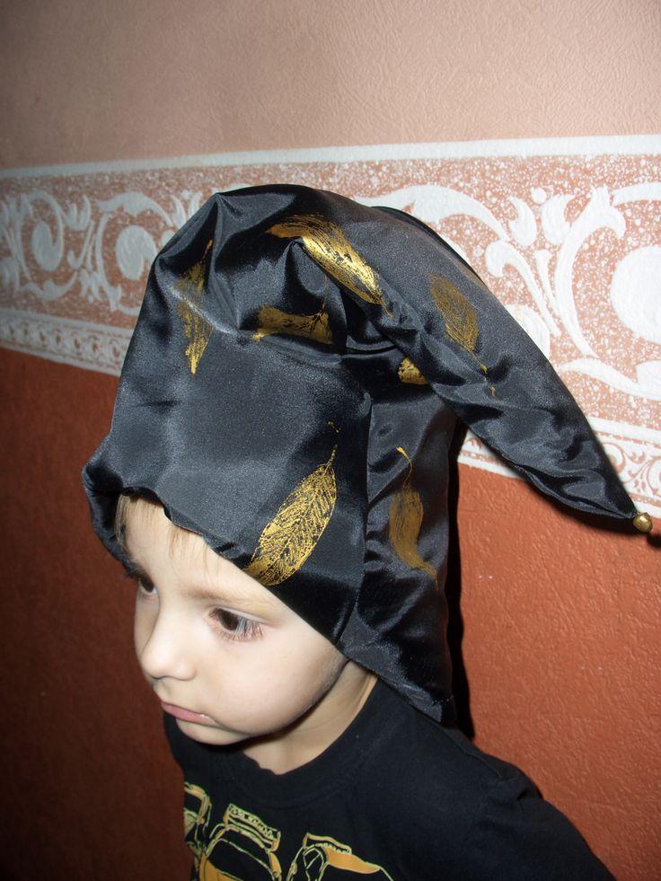 hood, black, gold, dwarf, колпак, гном