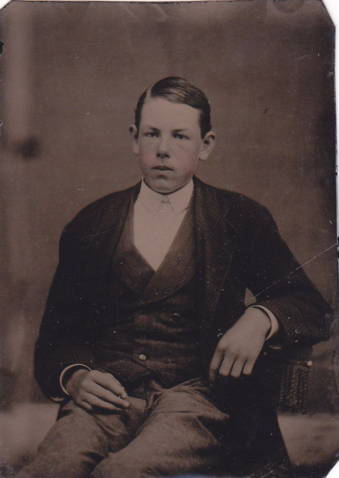 1860's Tintype of Young Man with Fancy Suit Jacket | eBay