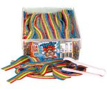 A bulk 1.4kg tub of TNT Sour Straps Multicolour straps.