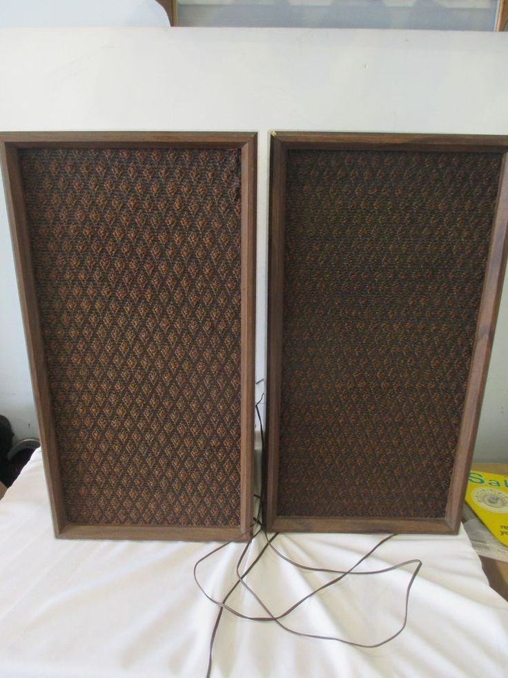 PAIR OF VINTAGE AUTOMATIC RADIO SHELF/FLOOR SPEAKERS WOODEN CASE | Consumer Electronics, Vintage Electronics, Vintage Audio & Video | eBay!