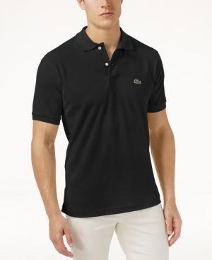 Lacoste Classic Pique Polo Shirt, L.12.12 - Black 3XL