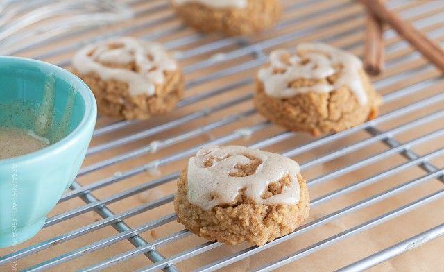 Pumpkin Spice Cookies with Vanilla Icing - Danielle Walker's Against All Grain