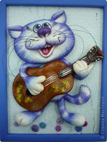 Картина панно рисунок Лепка Мои КОШАРИКИ Тесто соленое фото 2