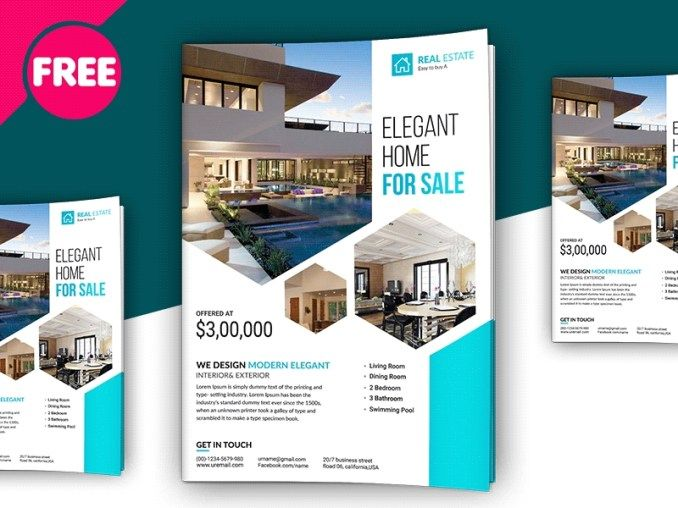 Free Psd Premium Real Estate Flyer Template Free Download Psd Real Estate Flyer Template Real Estate Flyers Real Estate Brochures